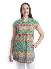 499 Women Multi-Coloured Printed Kurti