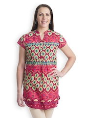 499 Women Red Printed Kurti