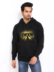 55DSL Men Black Fowdown Felpa Printed Sweatshirt