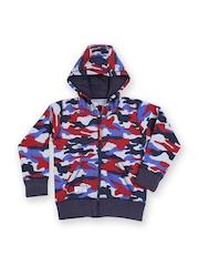 Boys Multicoloured Camouflage Print Hooded Sweatshirt 612 Ivy League 567437