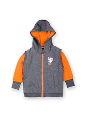 612 Ivy League Boys Charcoal Grey & Orange Clothing Set