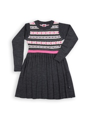612 Ivy League Girls Charcoal Grey Sweater Dress