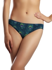 Enamor Women Peacock Coloured Briefs