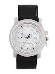 Fastrack Men Sliver Dial Watch