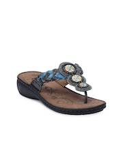 Catwalk Women Grey & Blue Sandals