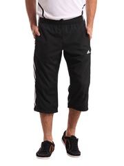 Adidas Men Black 3/4 Length Pants