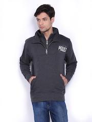 883 Police Men Charcoal Grey Sweatshirt