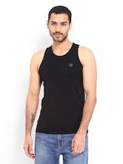 883 Police Men Black Innerwear Vest Dice