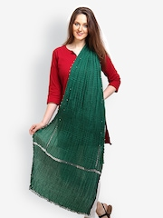 9rasa Women Green Dupatta
