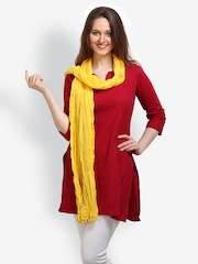9rasa Women Yellow Dupatta