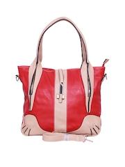 A Progeny Red & Beige Handbag