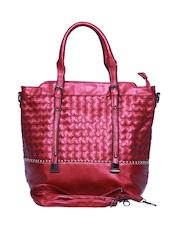 A Progeny Maroon Handbag