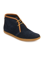 Men Blue Suede Boots A By Arden
