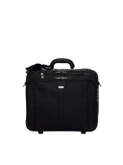 Adamis Unisex Black Trolley Suitcase