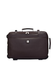 Adamis Unisex Brown Trolley Suitcase