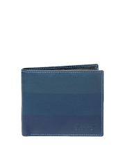 American Tourister Men Blue Leather Wallet