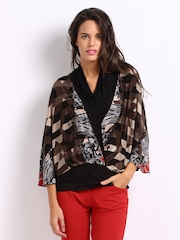 AND By Anita Dongre Women Brown Printed Top
