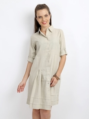 AND by Anita Dongre Beige Shirt Dress
