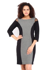 AND by Anita Dongre Black & Off-White Shift Dress