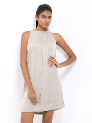 AND by Anita Dongre Beige Shift Dress