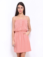 AND by Anita Dongre Peach Fit & Flare Dress
