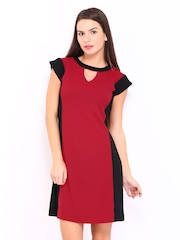 AND by Anita Dongre Black & Red Tailored Dress