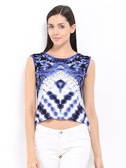 AND by Anita Dongre Women Blue Printed Top