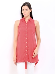 AND by Anita Dongre Women Coral Pink Tunic