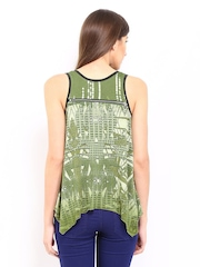 AND by Anita Dongre Women Green Printed Top