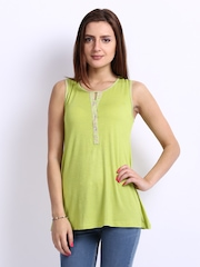 AND by Anita Dongre Women Lime Green Top