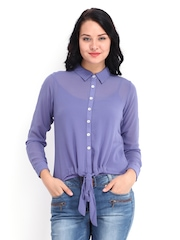AND by Anita Dongre Women Lavender Top