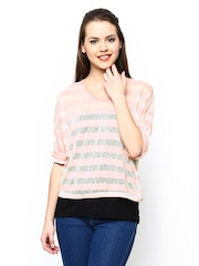 AND by Anita Dongre Women Pink & White Striped Top