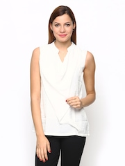 AND by Anita Dongre Women White Layered Top