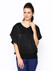 AND by Anita Dogre Women Black Top
