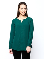 AND by Anita Dongre Women Teal Green Top