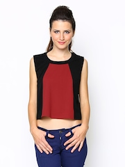 AND by Anita Dogre Women Black & Red Crop Top