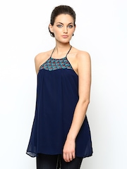AND by Anita Dongre Women Navy Halter Top