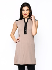 AND by Anita Dogre Women Beige Tunic