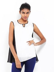 AND by Anita Dongre Women White & Black Top