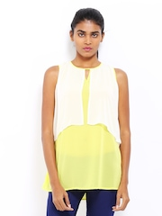 AND by Anita Dongre Women Yellow & White Top