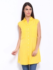 AND by Anita Dongre Yellow Shirt Dress