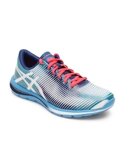 ASICS Men White & Blue Gel Super J33 Sports Shoes