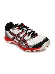 ASICS Men White & Black Gel Advance 4 Cricket Shoes