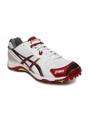 ASICS Men White Gel-Advance 5 Cricket Shoes