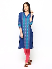 Aurelia Women Blue Kurta