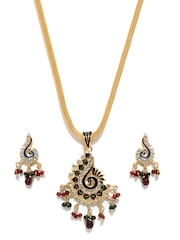 Aakshi Gold-Toned Peacock Jewellery Set