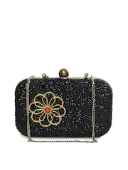 Aarnacraft Black Sequined Box Clutch