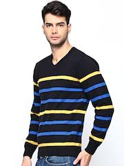 Academics Men Black Striped Sweater