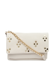 Accessorize Cream-Coloured Sling Bag