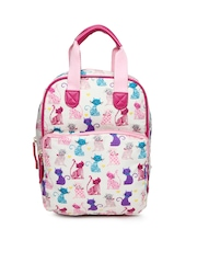 Accessorize Girls Cream-Coloured Printed Backpack
